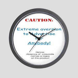 CAUTION! Refuse to advertise ... Wall Clock