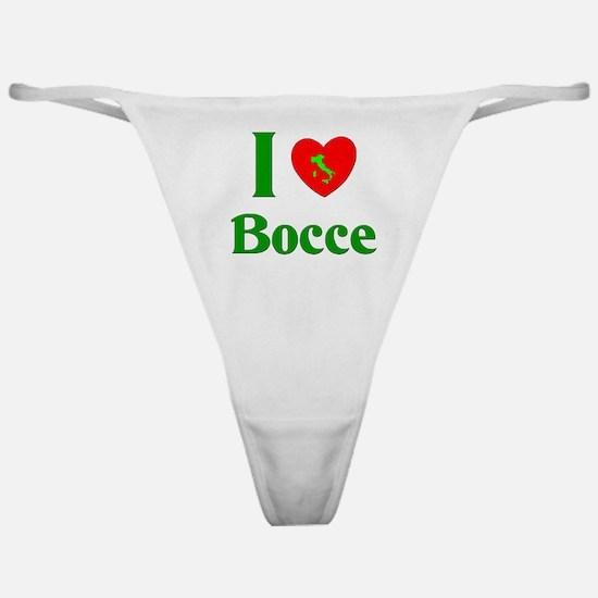 I Love Bocce Classic Thong