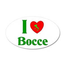 I Love Bocce 22x14 Oval Wall Peel