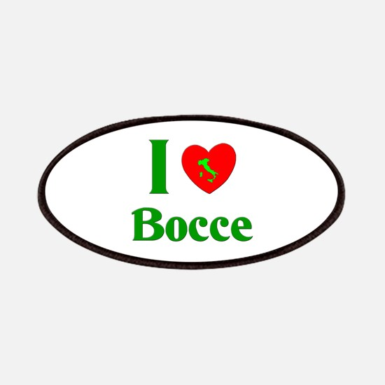 I Love Bocce Patches
