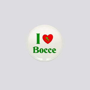 I Love Bocce Mini Button