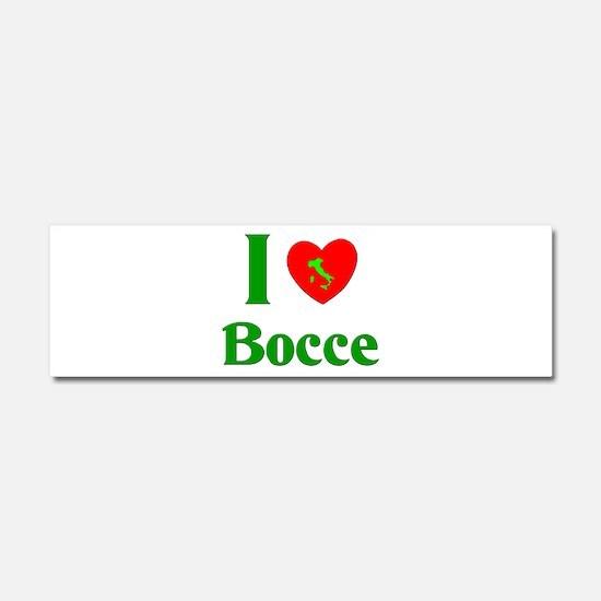 I Love Bocce Car Magnet 10 x 3