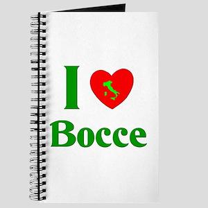 I Love Bocce Journal