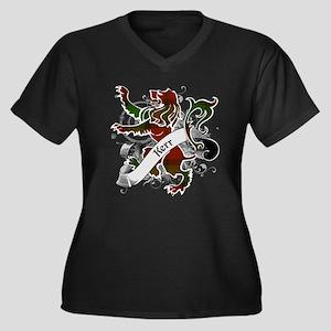 Kerr Tartan Women's Plus Size V-Neck Dark T-Shirt