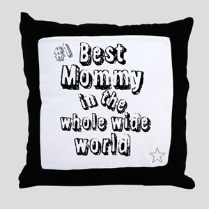 Best Mommy Throw Pillow