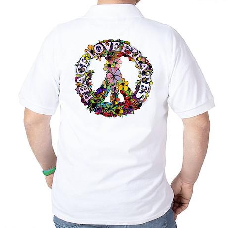 Peace Love Pilates by Svelte.biz Golf Shirt