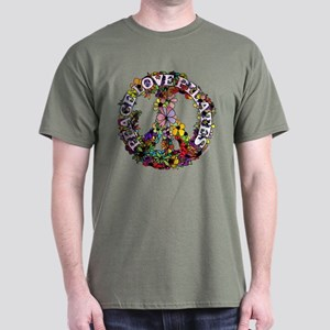 Peace Love Pilates by Svelte.biz Dark T-Shirt