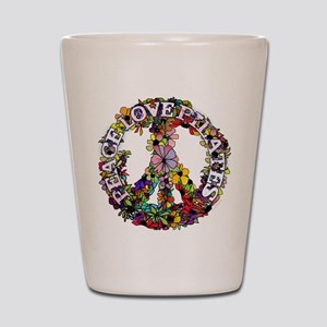 Peace Love Pilates by Svelte.biz Shot Glass