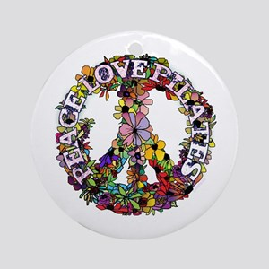 Peace Love Pilates by Svelte.biz Ornament (Round)