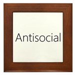 Antisocial Framed Tile