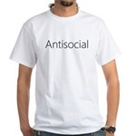 Antisocial White T-Shirt