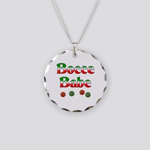 Bocce Babe Necklace Circle Charm