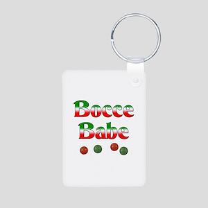 Bocce Babe Aluminum Photo Keychain