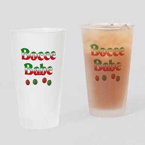 Bocce Babe Drinking Glass