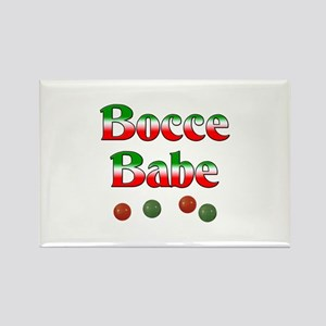Bocce Babe Rectangle Magnet