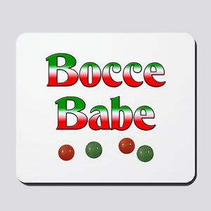 Bocce Babe Mousepad