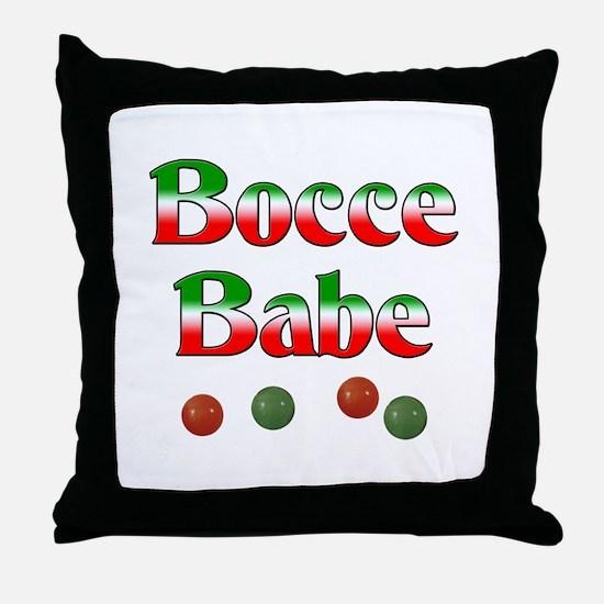 Bocce Babe Throw Pillow