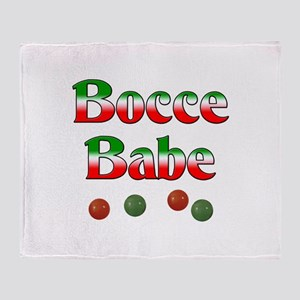 Bocce Babe Throw Blanket