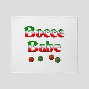 Bocce Babe Throw Blanket
