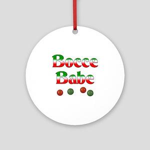 Bocce Babe Ornament (Round)