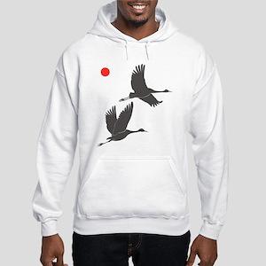 Crane Silhouette - Hooded Sweatshirt