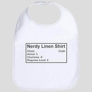 Nerdy Linen Shirt Bib