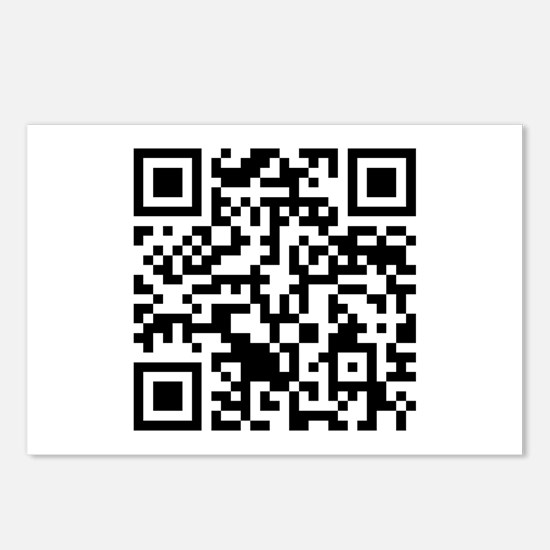 Rick Roll QR Code Postcards (Package of 8)