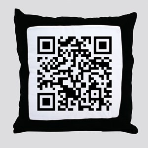 Rick Roll QR Code Throw Pillow