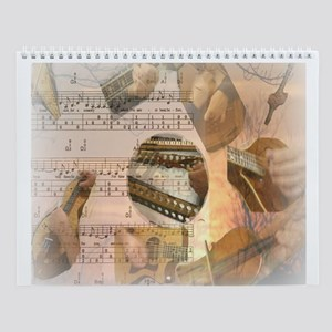 Instrumental Calendar Wall Calendar