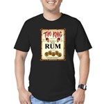 Tiki King Rum Men's Fitted T-Shirt (dark)