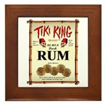 Tiki King Rum Framed Tile