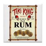 Tiki King Rum Tile Coaster