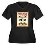 Tiki King Rum Women's Plus Size V-Neck Dark T-Shir