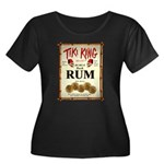 Tiki King Rum Women's Plus Size Scoop Neck Dark T-
