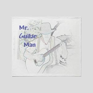 Mr. Guitar Man Throw Blanket