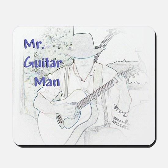 Mr. Guitar Man Mousepad