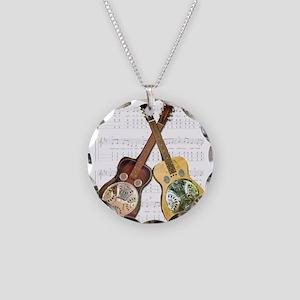 Dobros Necklace Circle Charm