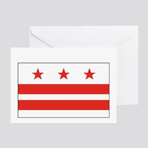 District of Columbia Flag Greeting Cards (6)