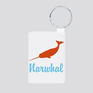 Narwhal Aluminum Photo Keychain