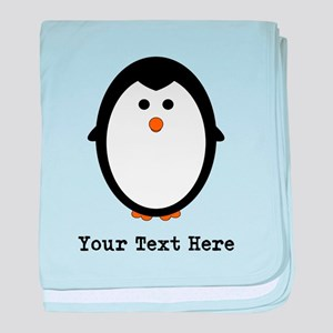 Personalized Penguin baby blanket