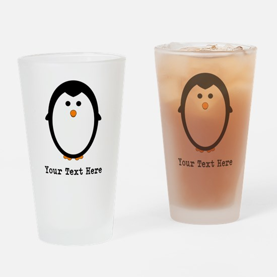 Personalized Penguin Drinking Glass