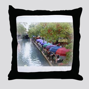 The Riverwalk in Art Throw Pillow