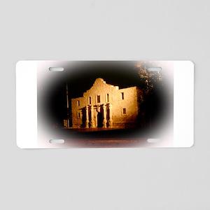 The Alamo Aluminum License Plate