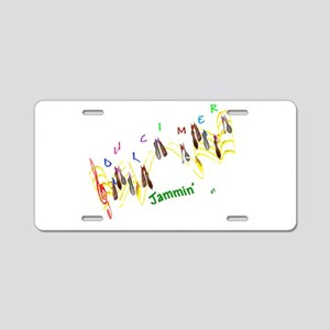 Dulcimers and Music Notes Aluminum License Plate