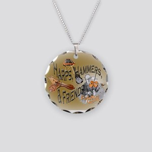 Harps, Hammers and Friends Necklace Circle Charm