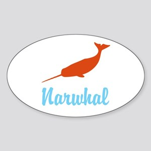 Narwhal Sticker (Oval)