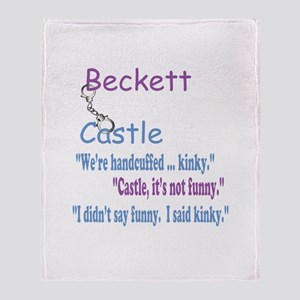 Beckett Castle Handcuffed Quote Throw Blanket