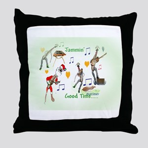 Jammin' Good Time Throw Pillow