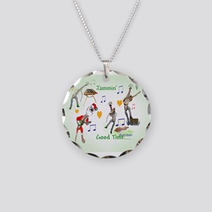 Jammin' Good Time Necklace Circle Charm