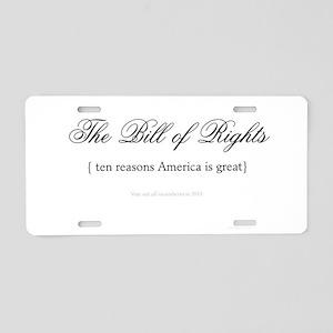 Bill of Rights - Vote Them Ou Aluminum License Pla